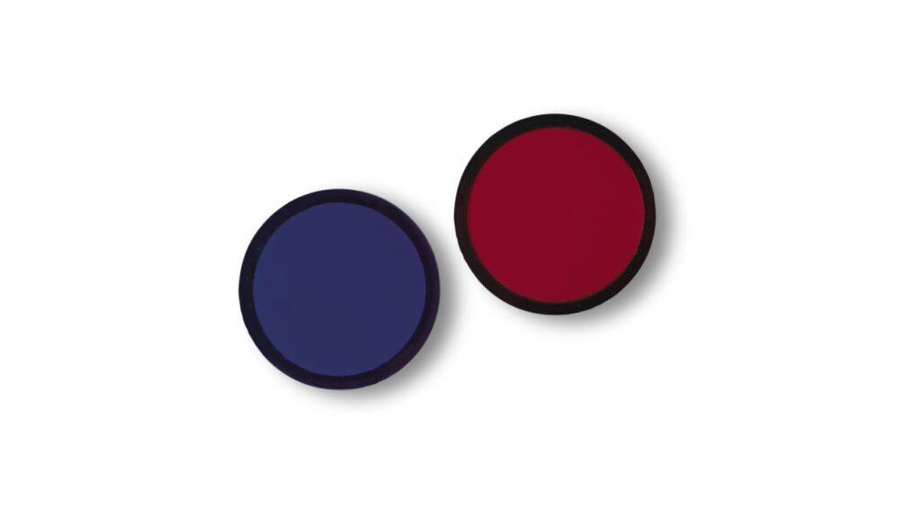 Redater blau rot